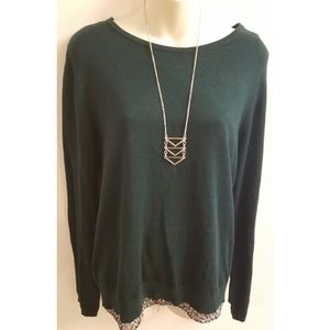 Green sweater built in tank